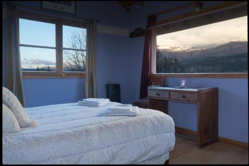 Splošen pogled na gorovje oz. razgled na gore, ki ga ponuja počitniška hiška