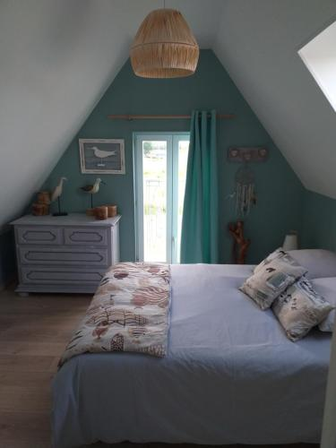 A bed or beds in a room at la grange