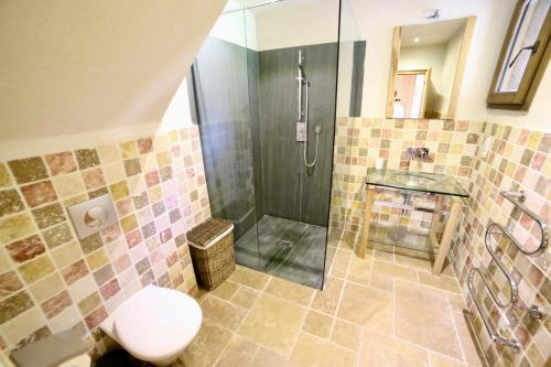 A bathroom at Chalet Arberons