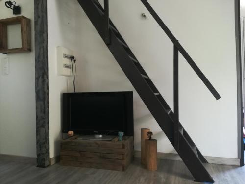 A television and/or entertainment center at la cigale