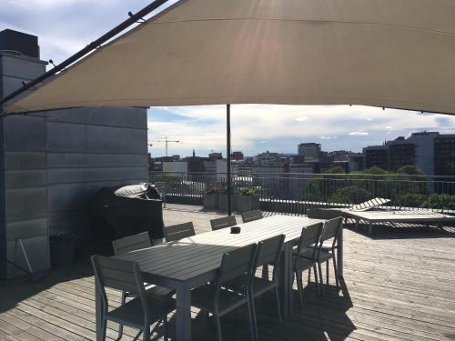 Restaurant ou autre lieu de restauration dans l'établissement Akers Have Apartments