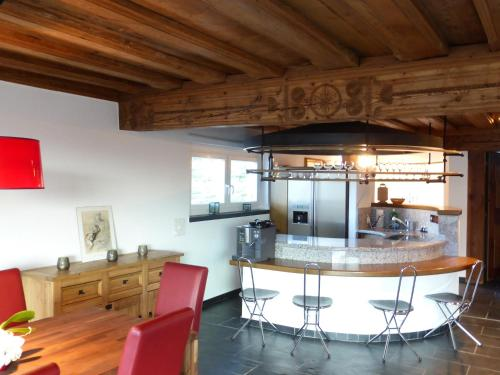 The lounge or bar area at Penthouse Apartment in Vaduz