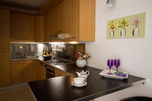 A kitchen or kitchenette at Apartments Casa Emonia