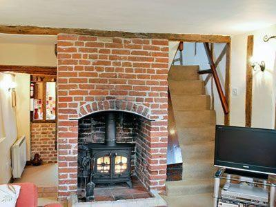 A television and/or entertainment center at Ivy Cottage