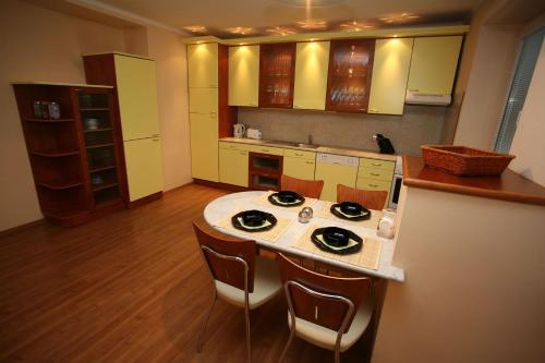 A kitchen or kitchenette at Apartments Bratislava - Jakubovo Square