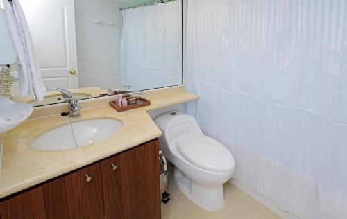 A bathroom at Time Suite