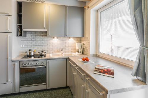 Küche/Küchenzeile in der Unterkunft Residence Pfeifhofer