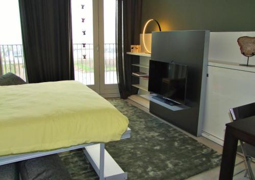 En TV eller et underholdningssystem på Compact Concepts Studio