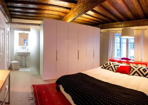 Postelja oz. postelje v sobi nastanitve FishSquare
