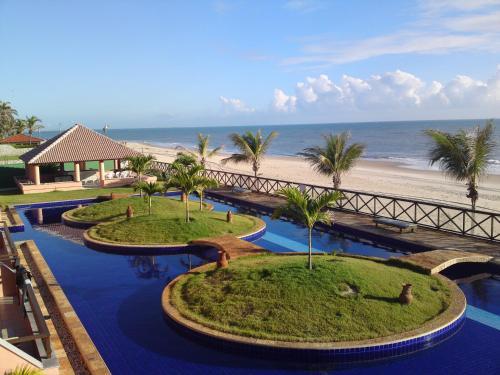 Cumbuco Ocean View游泳池或附近泳池的景觀
