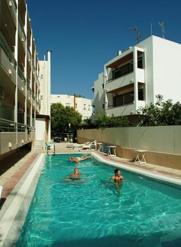 The swimming pool at or near Theonia Hotel