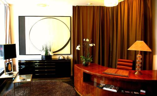 The lobby or reception area at Sablon-Aire Suite