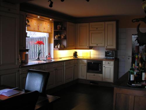 A kitchen or kitchenette at Chalet an der Piste