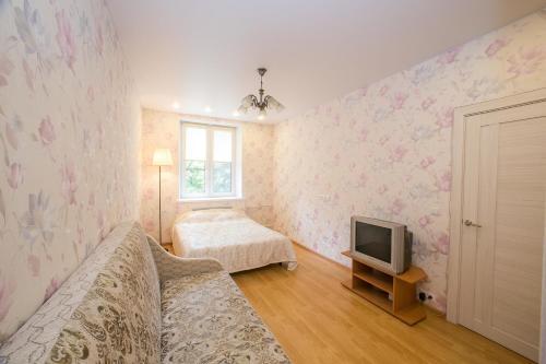 A seating area at Apartment Izmailovo-park Vigvam24