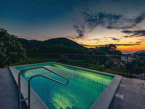 The swimming pool at or near Villa Lapida
