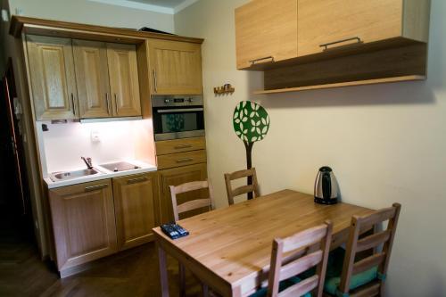 Küche/Küchenzeile in der Unterkunft Apartmán Pod sjezdovkou
