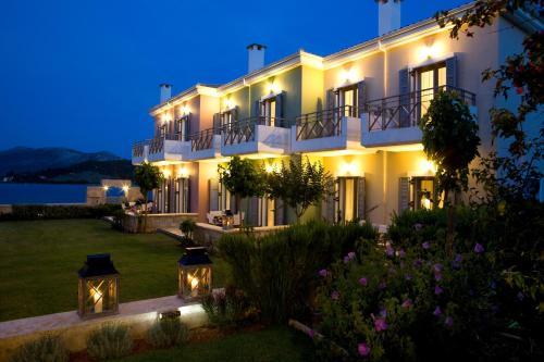 A garden outside Thalassa Mare Villas