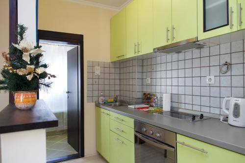A kitchen or kitchenette at Apartment Champagne