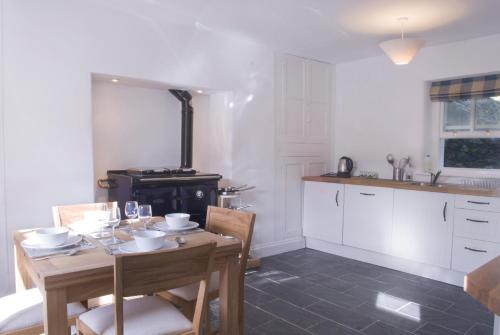 A kitchen or kitchenette at Bronfelin & Troed-y-Rhiw Holiday Cottage