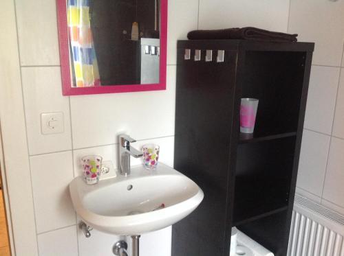 Salle de bains dans l'établissement Appartement La Croix