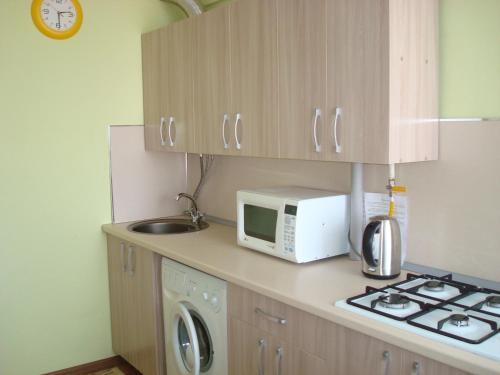 A kitchen or kitchenette at Apartment Frunze