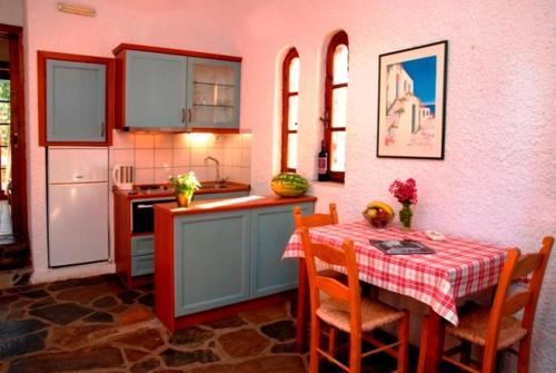 Η κουζίνα ή μικρή κουζίνα στο Kalives Apartments