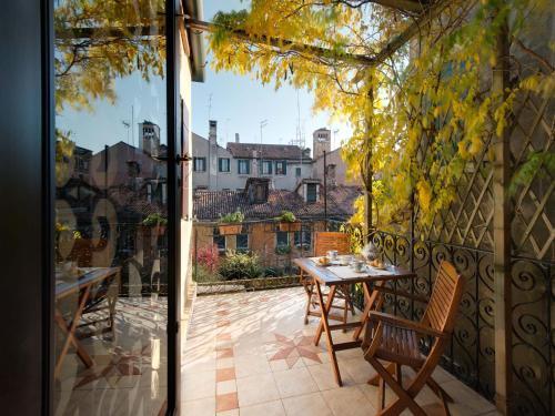 A porch or other outdoor area at San Giacomo