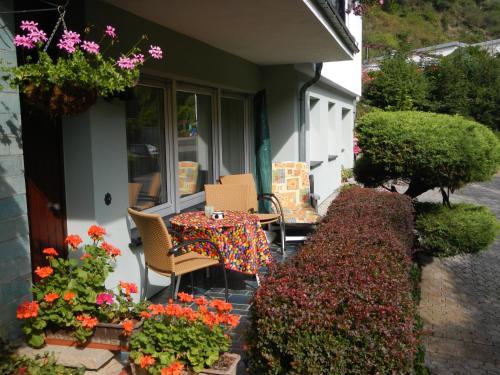 Ein Patio oder anderer Außenbereich in der Unterkunft Ferienwohnung Späth