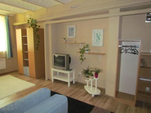 A television and/or entertainment center at Taban Apartment