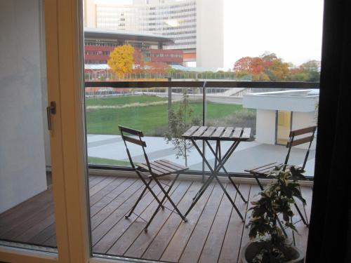 A balcony or terrace at Vienna DC Living Apartment with parking on premise