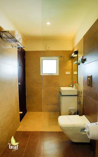 A bathroom at The Leaf Munnar