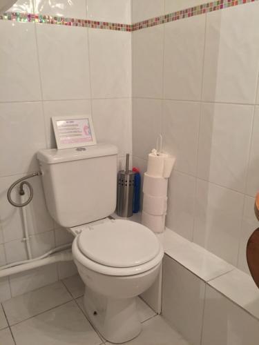 Salle de bains dans l'établissement Chez Nahiko