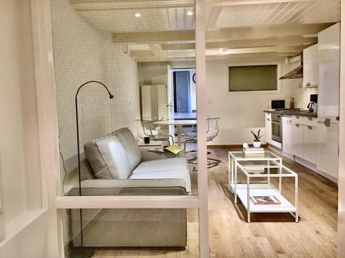 A seating area at Basement Apartment