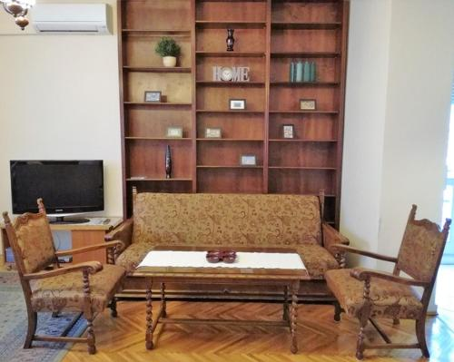 A television and/or entertainment center at Budapest River View Apartment