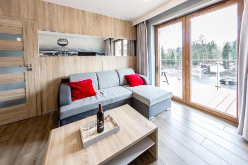 A seating area at Apartament Eva