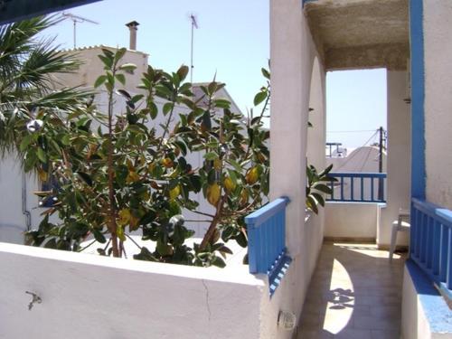 A balcony or terrace at Valvi Irini Studios