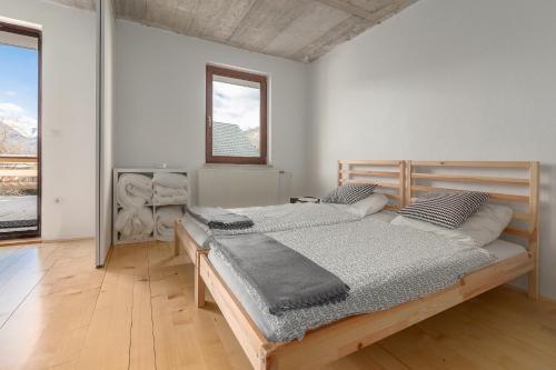 Postelja oz. postelje v sobi nastanitve Nature apartment Kersnik