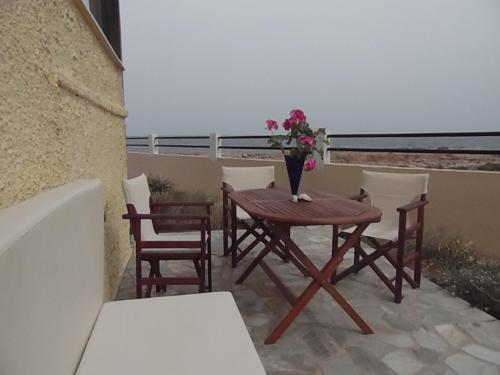 A balcony or terrace at Gianna's House