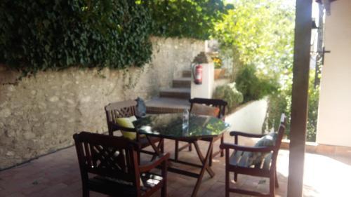 A porch or other outdoor area at Almanzora Apartments