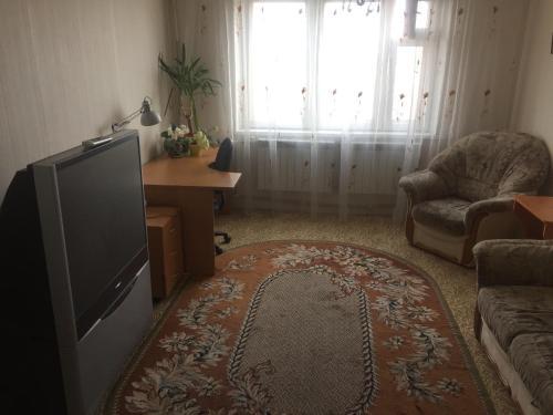 A seating area at Apartment na Lenina 90