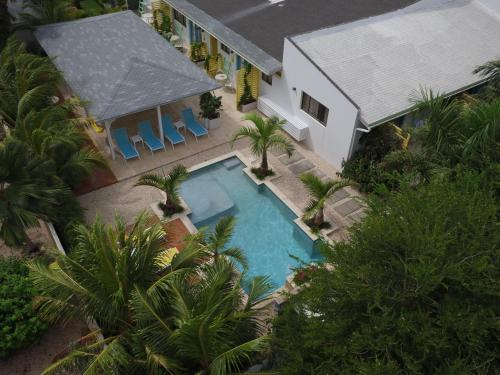A view of the pool at Bubali Bliss Studios or nearby