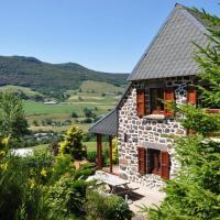 Farmhouse with mountain view