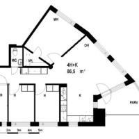 4 room apartment in Tampere - Kolmionkatu 4