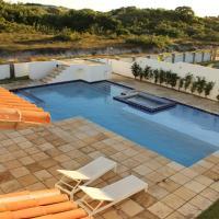 Casa Palma Azul de praia com piscina