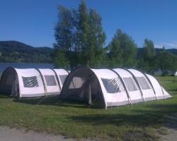 Rental tents on campsite Lipno Modrin