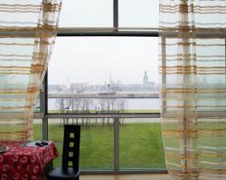 Superior view to Riga over Daugava