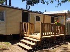 Mobile Home Panoramique Très Sympathique dans Le Bois Dormant Village