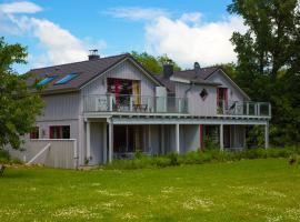 Ferienwohnung im Blockhaus Rollo, Ulsnis (Steinfeld yakınında)