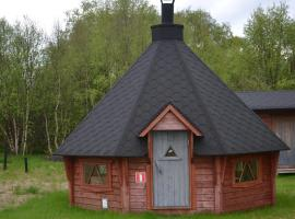 Tenon Eräkievari mökit, Karigasniemi (рядом с городом Outakoski)