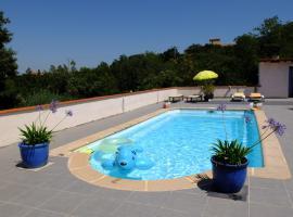 Jolie chambre,vue sur piscine, Tordères (рядом с городом Montauriol)